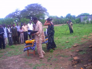 """""""African villagers experiencing Media: The day I launched my book: Africa To America""""."""